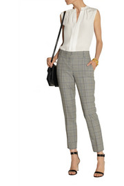 Oscar de la Renta Cropped houndstooth wool-blend pants