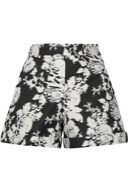 Oscar de la Renta Cotton and silk-blend jacquard shorts
