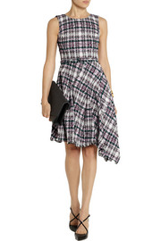 Oscar de la Renta Asymmetric cotton-blend tweed dress