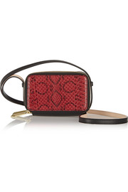 Reed Krakoff Snake and leather shoulder bag
