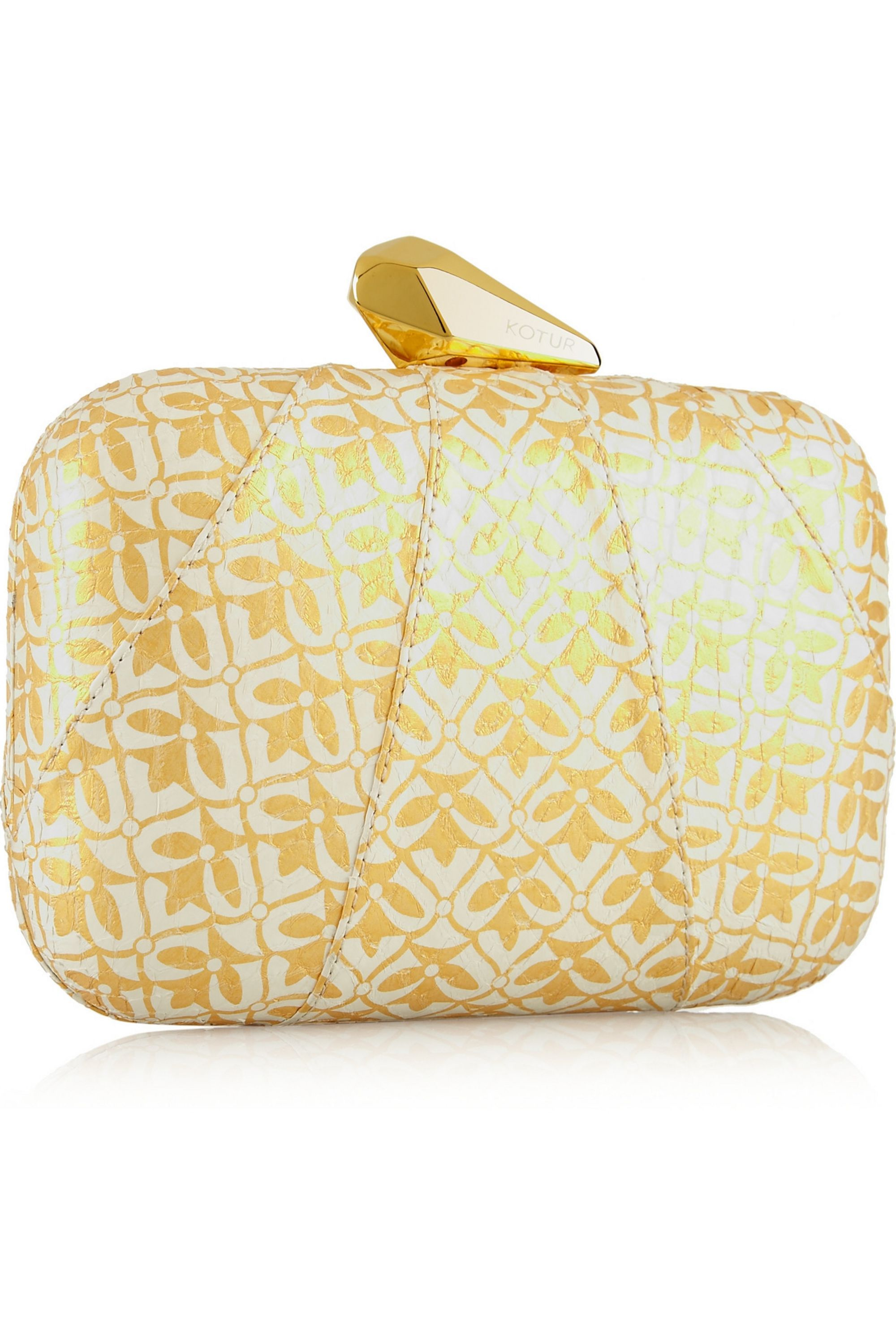 Kotur Morley printed elaphe box clutch