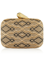 Kotur Morley patterned raffia box clutch