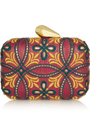 Kotur Morley embroidered elaphe box clutch