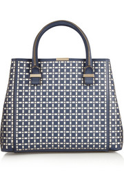 Victoria Beckham Quincy laser-cut leather tote