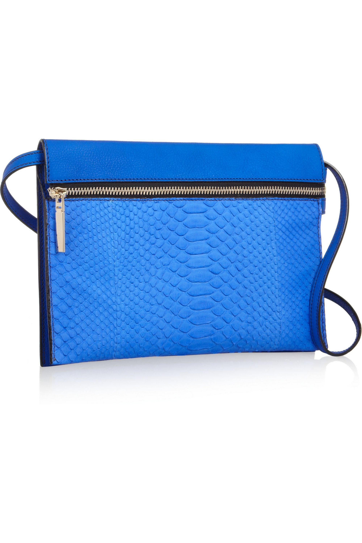 Victoria Beckham Python and textured-leather shoulder bag