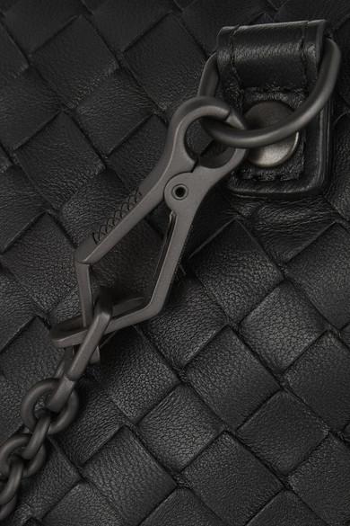 Bottega Veneta Messenger mini Schultertasche aus Intrecciato-Leder