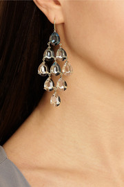 Ippolita Gemma Cascade 18-karat gold, quartz and topaz earrings