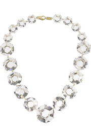 Ippolita Gemma Drama 18-karat gold quartz necklace