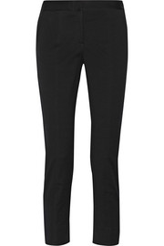 Reed Krakoff Cropped cotton-blend piqué skinny pants