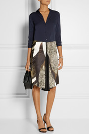 Reed Krakoff Printed satin skirt