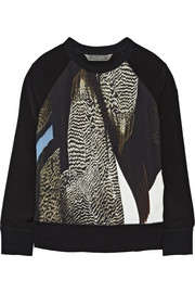 Reed Krakoff Printed crepe and shell top