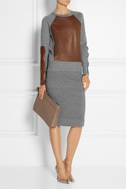 Reed Krakoff Cashmere, wool and silk-blend pencil skirt