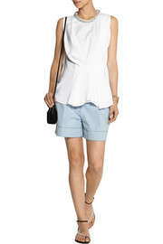 3.1 Phillip Lim Embellished silk and stretch-cotton top