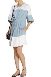 3.1 Phillip Lim Embellished poplin, chambray and crepe de chine mini dress