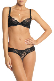 Agent Provocateur Larizsa embroidered tulle and satin underwired bra
