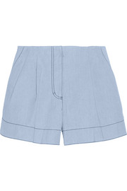 3.1 Phillip Lim Bonded-chambray shorts
