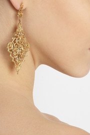 IAM by Ileana MakriChantilly gold-plated earrings