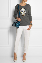 Markus Lupfer Mexican Skull sequined merino wool sweater