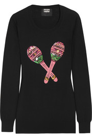 Maracas sequined merino wool sweater