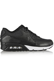 Air Max 90 leather and printed jacquard sneakers