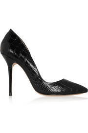 Lucy Choi London Soho croc-effect leather and Perspex pumps