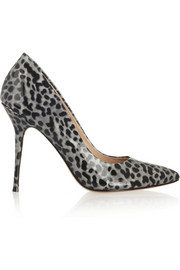 Lucy Choi London Aster leopard-print patent-leather pumps
