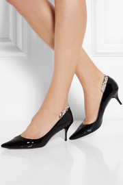 Lucy Choi London Salisbury patent-leather pumps