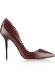 Lucy Choi London Soho PVC-trimmed leather pumps