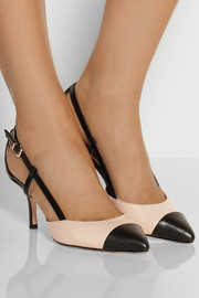 Opal two-tone leather pumps