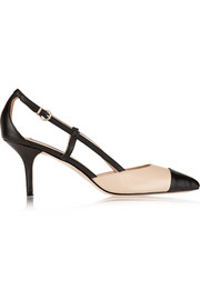 Lucy Choi London Opal two-tone leather pumps