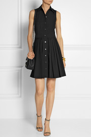 Michael Kors Cotton-poplin mini shirt dress