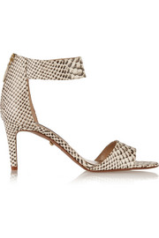 Diane von Furstenberg Kinder snake-effect leather sandals