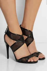 Diane von Furstenberg Jules leather and mesh sandals