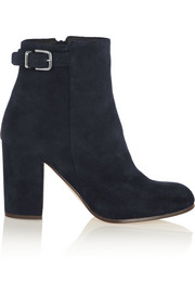 J.Crew Barrett buckled suede ankle boots