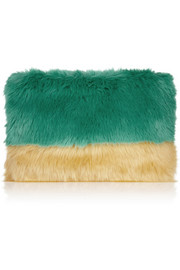 Shrimps Pablo faux fur clutch