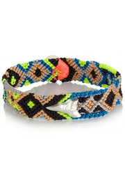 Dezso by Sara Beltràn Shark Tooth woven cotton and silver friendship bracelet