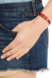 Dezso by Sara Beltràn Spine woven cotton and silver friendship bracelet