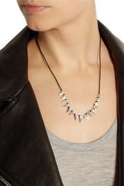 Dezso by Sara Beltràn Baby Shark Tooth woven cotton and silver necklace