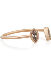Dezso by Sara Beltràn 18-karat rose gold diamond phalanx ring