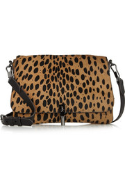 Elizabeth and James Cynnie Mini leopard-print calf hair shoulder bag
