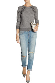 J.Crew Embellished cotton-blend jersey sweatshirt