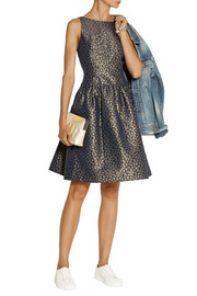 J.Crew Kingston metallic jacquard dress