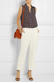 J.Crew Printed silk top
