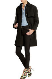J.Crew Collection Avery wool-blend crepe trench coat
