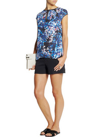 J.Crew Collection floral-print silk top