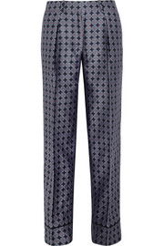 J.Crew Collection silk-foulard wide-leg pants