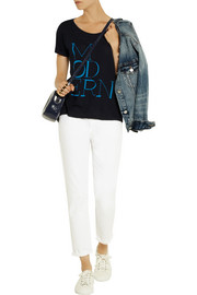 J.Crew Modern printed cotton and modal-blend T-shirt
