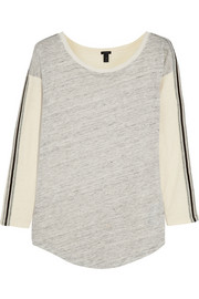 J.Crew Color-block linen and cotton top