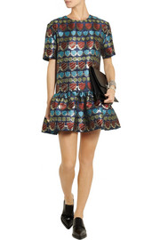 House of Holland Jack metallic jacquard mini dress