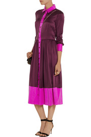 House of Holland Anna washed-silk midi dress